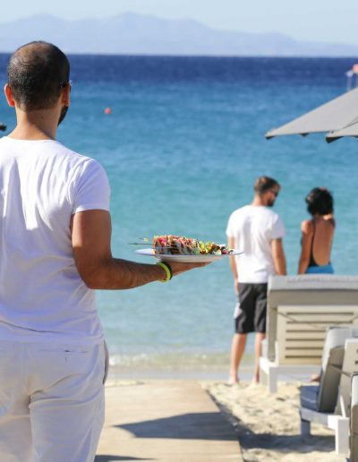 Enjoy delicious food by the beach
